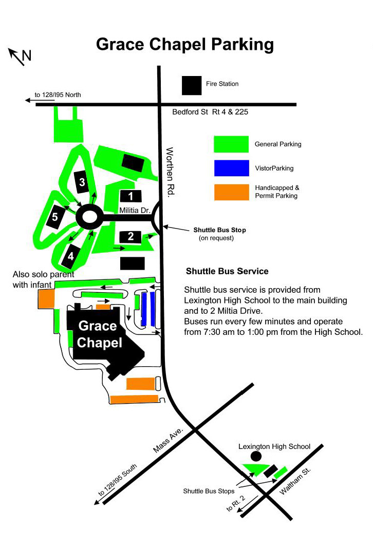 Lexington Campus Parking Map